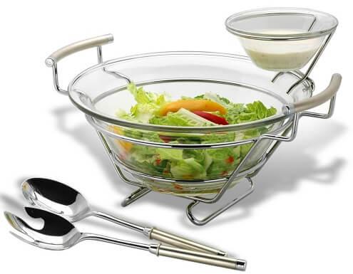 Salaterka z łyżkami Perle RP. 370492A