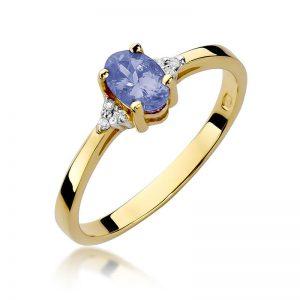 pierścionek z tanzanitem