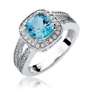 pierścionek z topazem