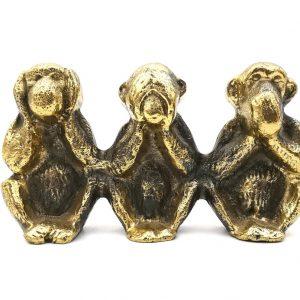 małpki mosiądz figurka