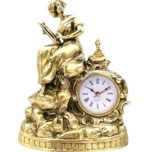 zegar kobieta z mosiądzu